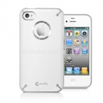 Чехол на заднюю крышку для iPhone 4 и 4S Macally Protective glo in the dark case, цвет white (GLODARKWD-P4S) (GLODARKWD-P4S)