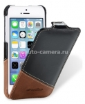 Кожаный чехол для iPhone 5C Melkco Leather Case Jacka Type Mix and Match Series, цвет Vintage Black/ Classic Vintage